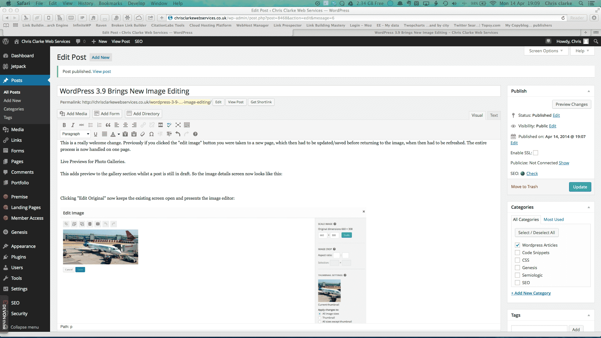 Image Editing with WordPress 3.9