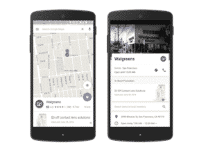 image showing a promoted pin on google maps
